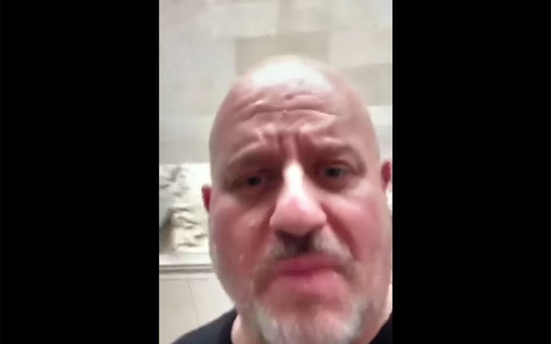 Jim Mellas. Protest inside the British Museum